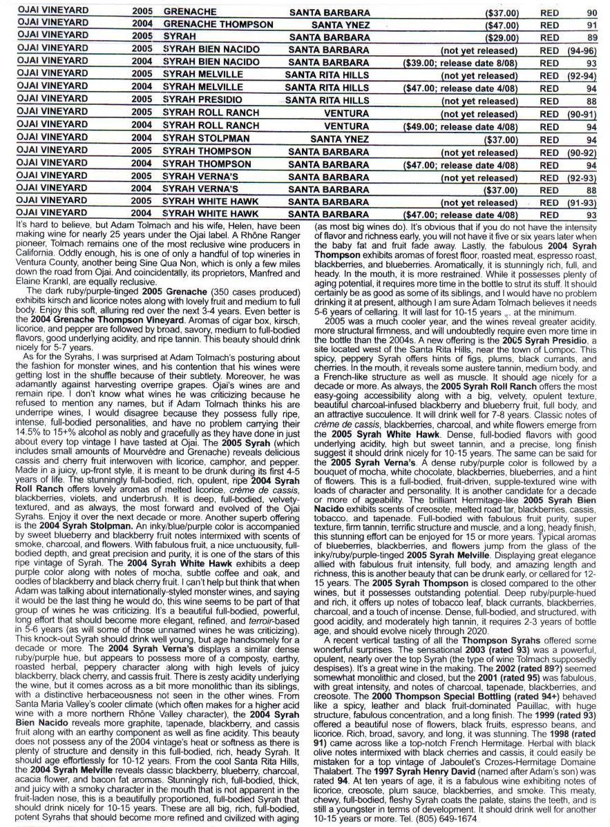 WA issue 172 - 05& 05 syrah & Grenache